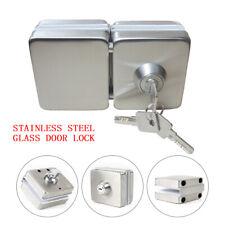 Frameless 10-12mm Double Side Open Glass Door Lock Latch Bolt w/ 3Keys