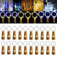 Lot 2M 20LED Wine Bottle Fairy String Light Cork Battery Night Light Xmas Party