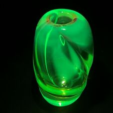 Bohemian Czech Art Glass Uranium Vase Skrdlovice Jan Beránek & Jan Kotik 1960's