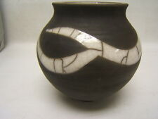 """Hand made Pottery Decorative Pot/Vase 5 1/2"""" tall signed """"Stacey Kintt"""" GUC"""