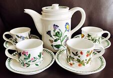 Vintage 1972 Botanic Garden Portmeirion Ironstone Coffee Set (Perfect Condition)