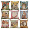 HB- Retro Cats Linen Throw Pillow Case Cushion Cover Sofa Bed Car Home Decor Gre
