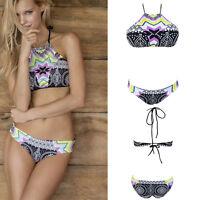 2020 Wine Crochet Net Back Criss Cross Padded V Neck Bikini Bathing Suit S-2XL
