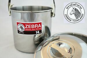 Zebra Loop Handle Billy Can, 12cm, 14cm, 16cm