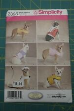 Simplicity pattern 2393 Dog Coat Jacket XXS, XS, S, M Dinky Dogs up to 8 lbs