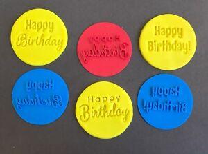 Stylish Happy Birthday Mix Font Cookie Stamp Fondant Embosser Cake Decoration