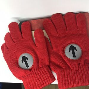 Suck UK Reflective Red Cycling Gloves | Gifts for Girls & Boys | One Size