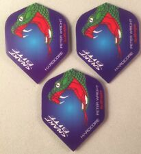 Darts Flights Set of 3 Peter Wright Snakebite Hardcore 100 Micron Red Dragon