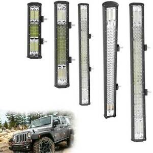 12V LED Work Light Bar Flood Spot Lights Driving Lamp Offroad Car Truck ATV SUV