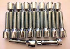 16 X M12X1.25 TUNER 75mm LONG 50mm THREAD ALLOY WHEEL BOLTS FITS FIAT 58.1