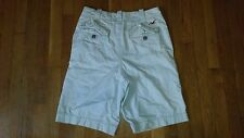Hollister mens cotton cargo shorts size 28 button fly, sand color