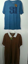 MEN'S ALTERNATIVE SHIRT LOT XL EXTRA LARGE  T- SHIRT GOLF RED CAMEL NWT NEW
