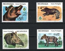 NIKARAGUA 1984 IRENA WORLD WILDLIFE DANTO ANIMALS STAMPS SET MNH CTO