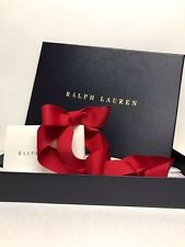 "Ralph Lauren Gift Box Set with Ribbon Tissue Card Navy New 12.5"" x 9"" x 1.5"""