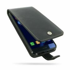 PDair Leather Flip Top Wallet Case Cover for Huawei Honor 8 - Black