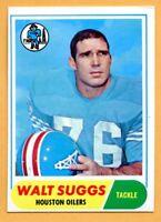 1968 Topps Football #94B Walt Suggs (EX) -- Houston Oilers