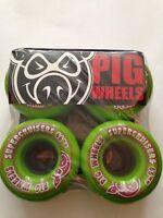 PIG WHEELS Skateboard  Super Cruisers  Wheels 66mm Green  Pig Supercuiser Wheels