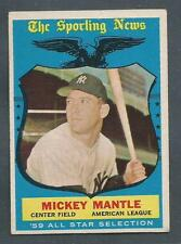 1959 Topps #564 Mickey Mantle Yankees EX