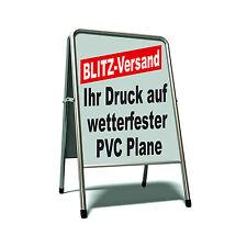 2x DIN A1 PVC Plakat Poster f. Kundenstopper Gehwegaufsteller Klemmrahmen Druck