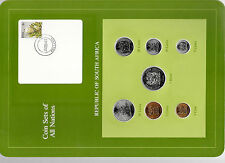 Coin Sets of All Nations South Africa w/card UNC all 1984 but 1 Rand 1983