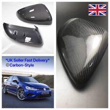 VW Golf MK7 MK7.5 Carbon Fiber Mirrors Full Replacement Style GTI GTD R + Touran