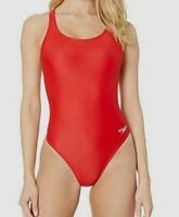 $195 Speedo Women's Red Pro LT Lined One-Piece Compression Swimsuit Size 6/32