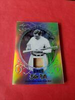 BABE RUTH GAME USED BAT CARD #d6/10 LEAF METAL REFRACTOR #SB18 NEW YORK YANKEES