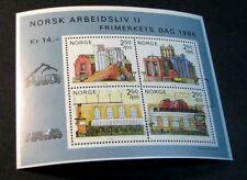 Souvenir Sheet Norway Stamp Scott# B69 Paper Industry 1986 MNH  C505