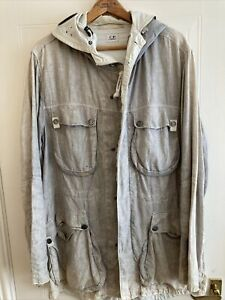 Mens Used CP Company White/Grey Goggle Jacket Size 54 Good Condition