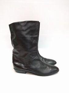 Size 8 Vintage Ladies Classic 80s Black Flat PETER KAISER soft leather boots