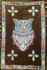 Sacred Owl Bohemian Boho Hippie Indian TAPESTRY Wall Art Hanging Bedspread Decor