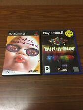 Super Bust A Move & Bust A Block Ps2 PlayStation 2 Games Bundle Sh2-033