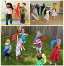 12Pcs Hemmed Square Juggling and Dance Scarves for Creative Childhood Play New C