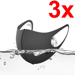 [3-Pack] Washable Reusable Breathable Flexible Face Covering Mouth Mask