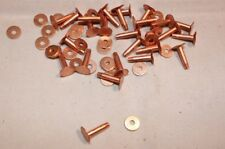 "Copper Rivets and Burrs - #12 - 5/8"" - Quantity of 25 (F229)"