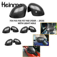 Real Carbon Door Side Mirror Cover with Hole For MINI Cooper F54 F55 F56 F57 F60