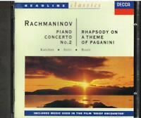 Rachmaninov: Konzert No 2, Rhapsodie Paganini / Katchen, Solti, Boult, London CD