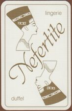 Playing Cards Single Card Old NEFERTITE LINGERIE Advertising Art EGYPTIAN QUEEN