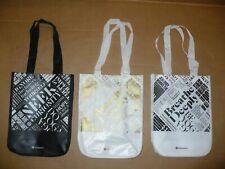 Lot 3 Lululemon Small Shopping Tote Bags NEW Black White