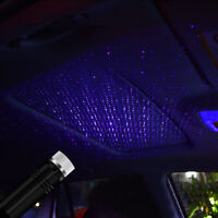 USB Car Interior Atmosphere Star Sky Blue Lamp Ambient Stars Light LED Projector