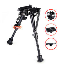 "Zeadio 6""- 9"" Adjustable Bipod for Hunting Air Rifle Gun with 3 Adapters UK"