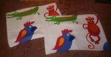 2 monkey crocadile parrot handmade cushion covers new children's room