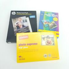 Lot Of Three Different Packs Of Photo Paper HP, Ritz, Staples New In Box