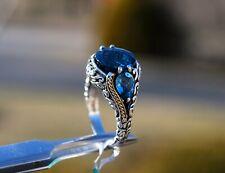 Effy Blue Topaz Cocktail Ring Sz 7 - 18k Gold/sterling Silver