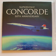 More details for 2019, guernsey 50p concorde 50th anniversary 4 coin set sealed unopened.