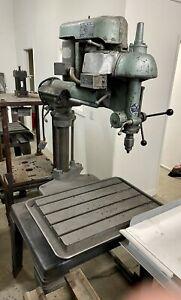 "Vintage Walker-Turner Radial Arm Drill Press 14 7/8"" Throat 26"" X 18"" Table"