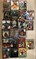 Marvel Universe Blu-Ray 3D/4K Lot-21 Movies Steelbook/Digibook Editions Avengers