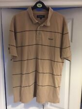 Men's Rockport Polo Shirt Size Large Brown 80s 90s Casuals Large Rockport Top