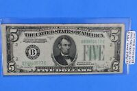 FR-1960-B Series 1934-D $5.00 Fed Note Green Seal