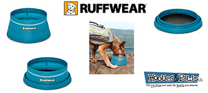 Ruffwear NEW Bivy Bowl Blue Spring Collapsible Travel Food Water Dish Packable